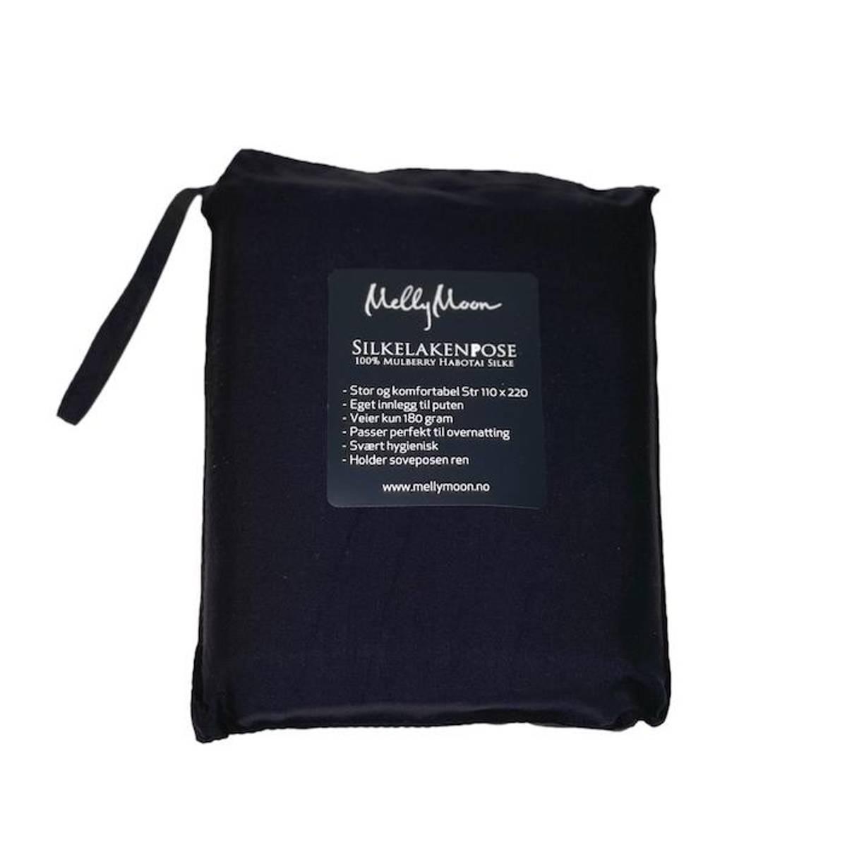 Silkelakenpose - sort