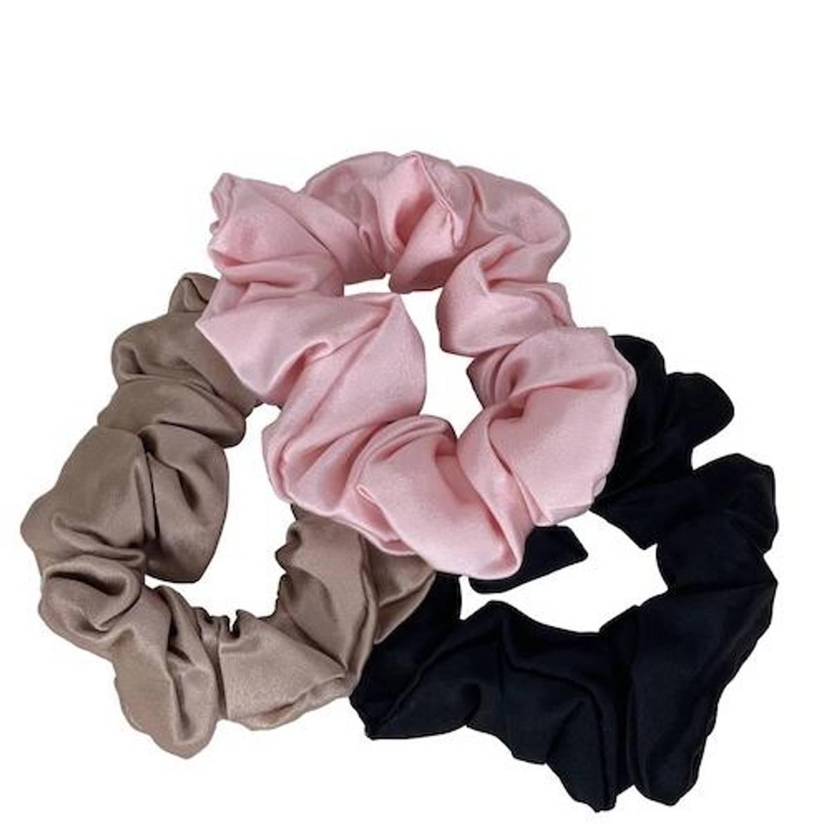 Scrunchies - champ/sort/rosa
