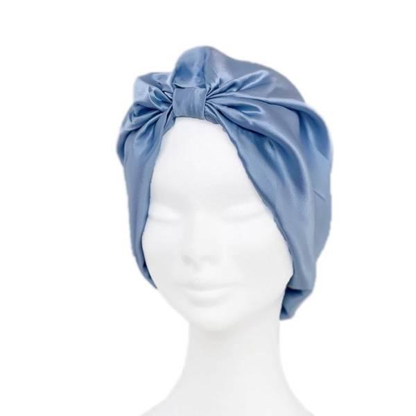 Bilde av Sove turban i silke-blå